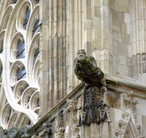 En av mange detaljer på York Minster