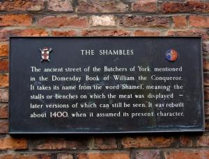 """Forklaring på navnet """"Shambles"""""""